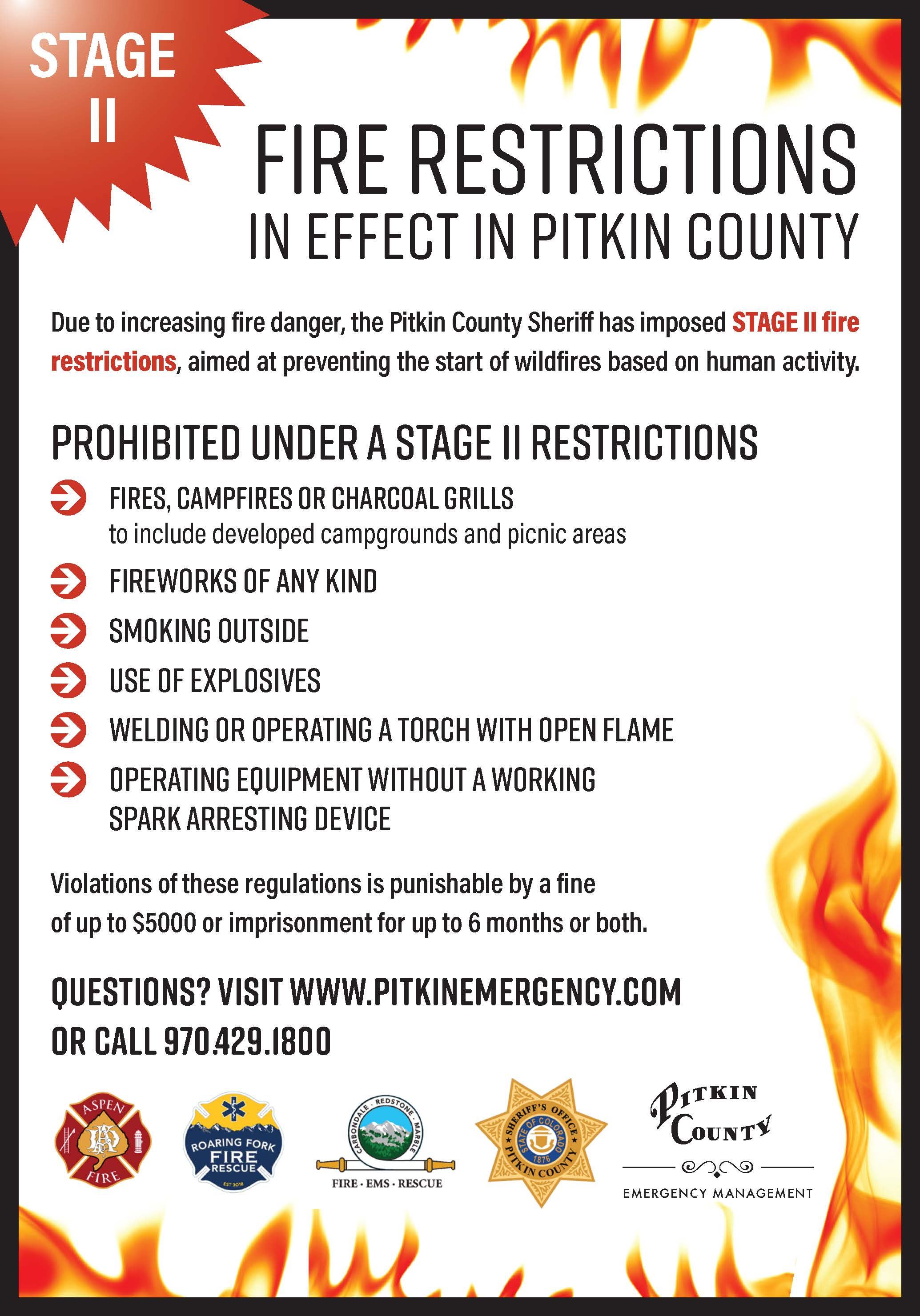 Pitkin County - Stage 11 Fire Prohibited 102320