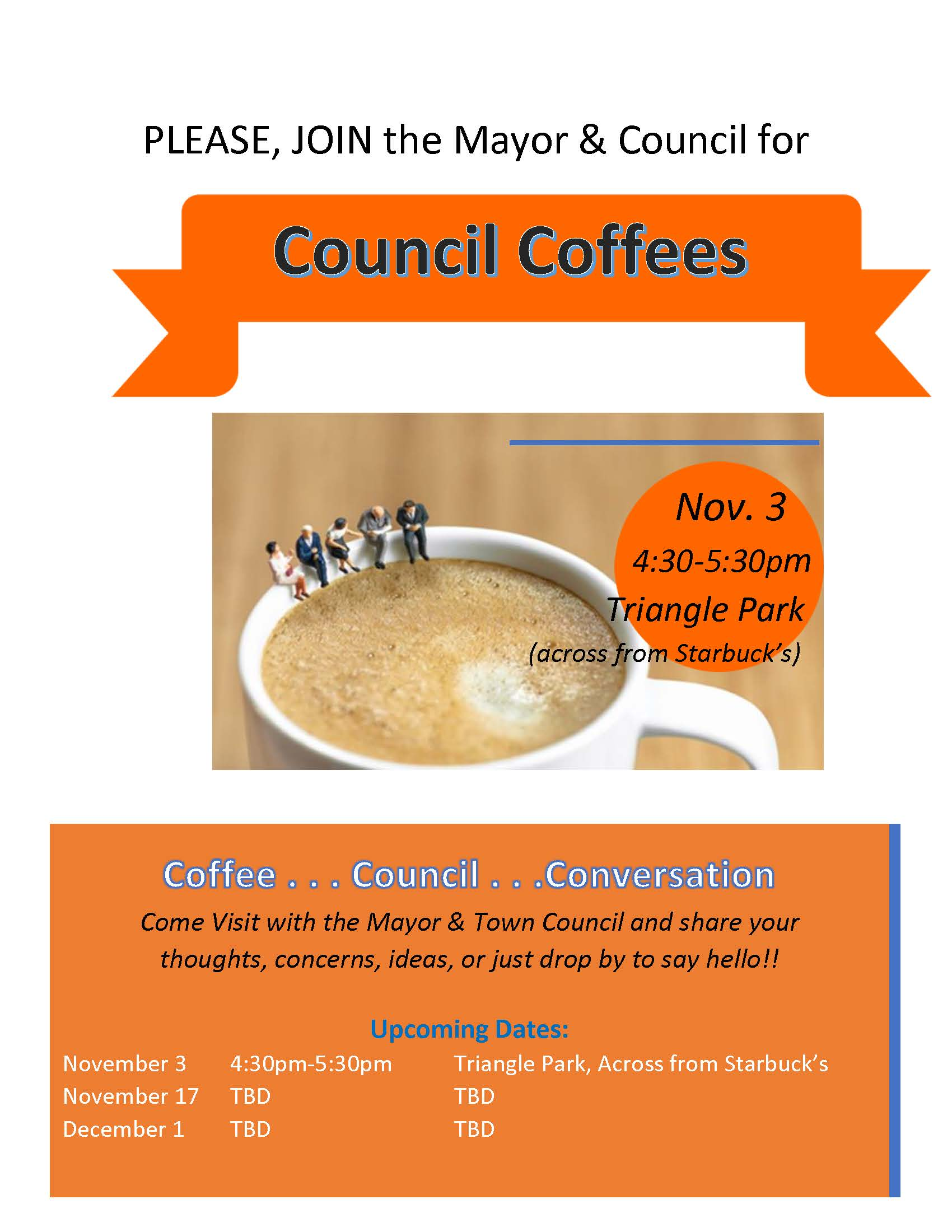 Council Coffees - Fall 2020 110320