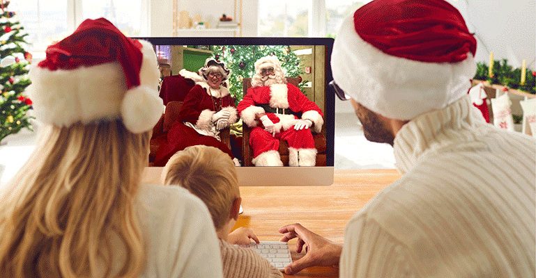 Zoom Call with Santa and Mrs Claus