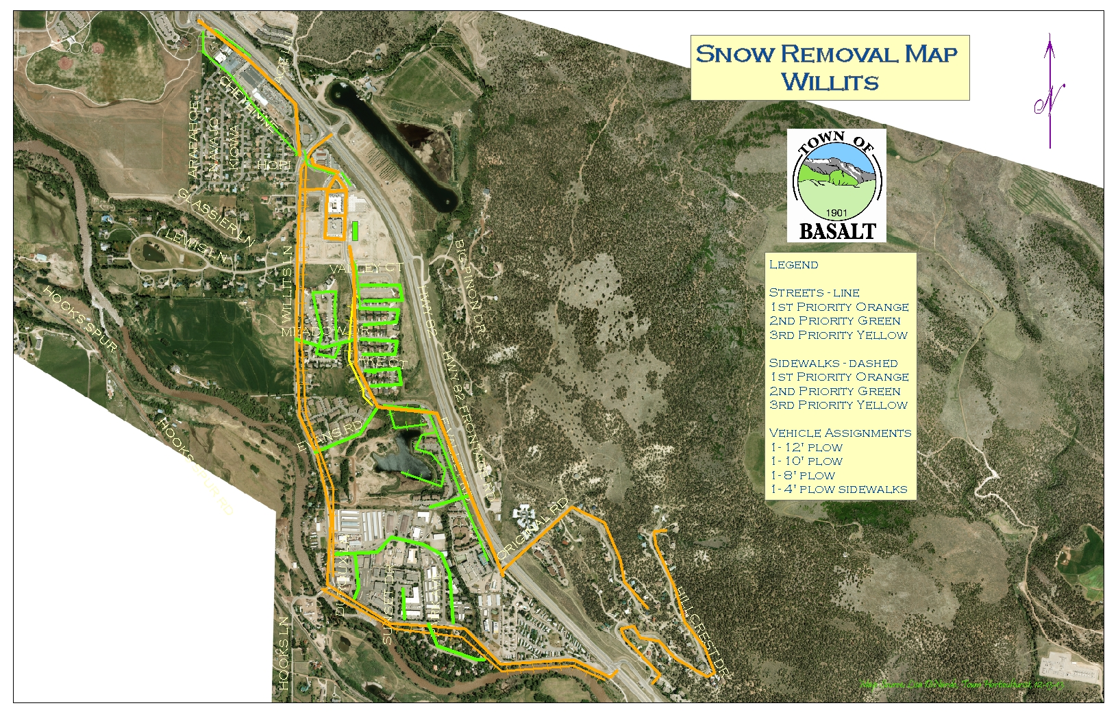 12-18-13 Willits Snow Removal Map